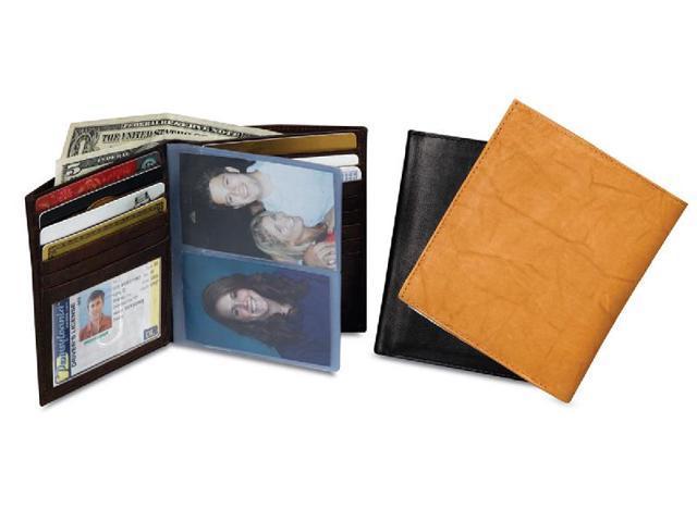 Tall Leather Bi-Fold Wallet