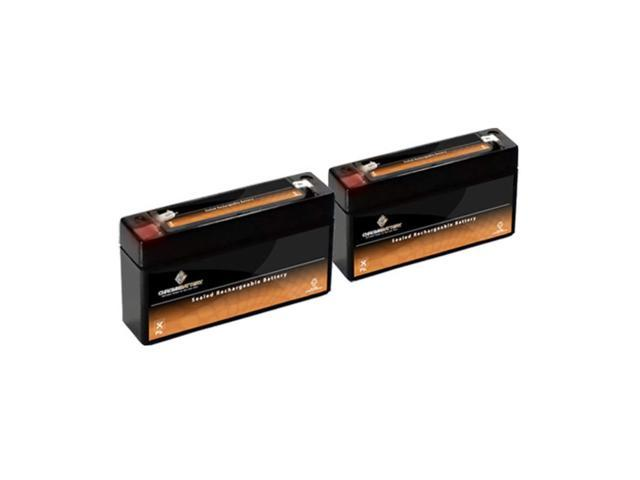 6V 3.4AH SLA Battery replaces bp3-6 np3-6 - 2PK
