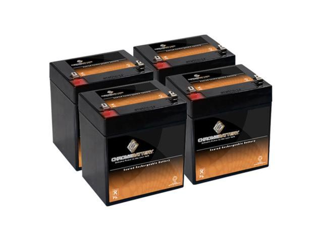 12V 4.5AH SLA Battery replaces pc1250 ub1250 ca1240 bp5-12 es4-12 - 4PK