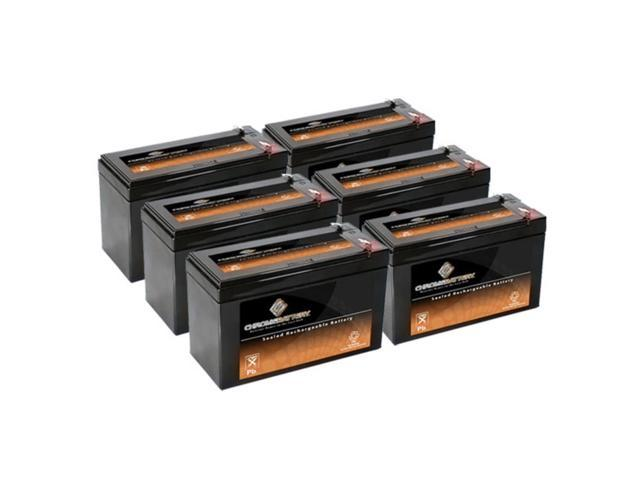 12V 9AH SLA Battery Replaces CP1290 6-DW-9 HR9-12 PS-1290F2 - 6PK