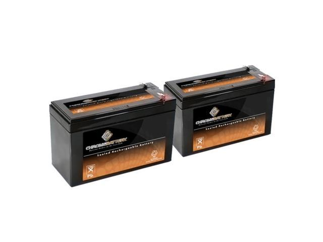 12V 7.6AH SLA Battery replaces lc-r127r2p ub1270 pc1270 ps1270f1 jc1260 - 2PK