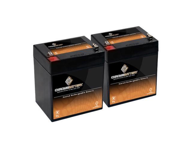 12V 6AH Sealed Lead Acid (SLA) Battery - T2 Terminals - for ZB-12-6 - 2PK