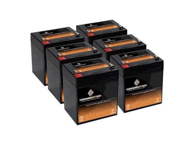 12V 5.4AH SLA Battery replaces wp1221w - 6PK