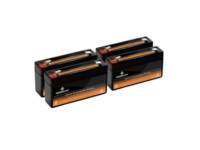 6V 3.4AH Sealed Lead Acid (SLA) Battery - T1 Terminals - for ZB-6-3.4 - 4PK