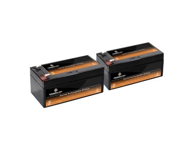 12V 3.4AH SLA Battery replaces bp3.6-12 np2.6-12 nph3.2-12 - 2PK