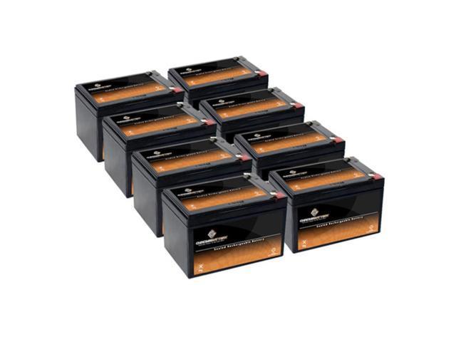 12V 12.5AH Sealed Lead Acid (SLA) Battery - T2 Terminals - for ZB-12-12.5 - 8PK