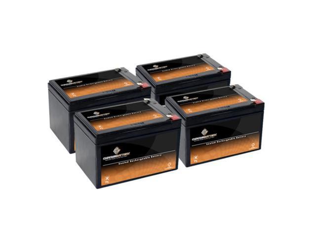 12V 12AH SLA Battery replaces gp12120 ps-12120 wp12-12 gp12110f2 ps12100 - 4PK