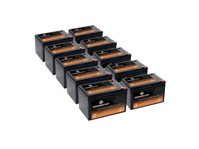 12V 15AH Sealed Lead Acid (SLA) Battery - T2 Terminals - for ZB-12-15 - 10PK