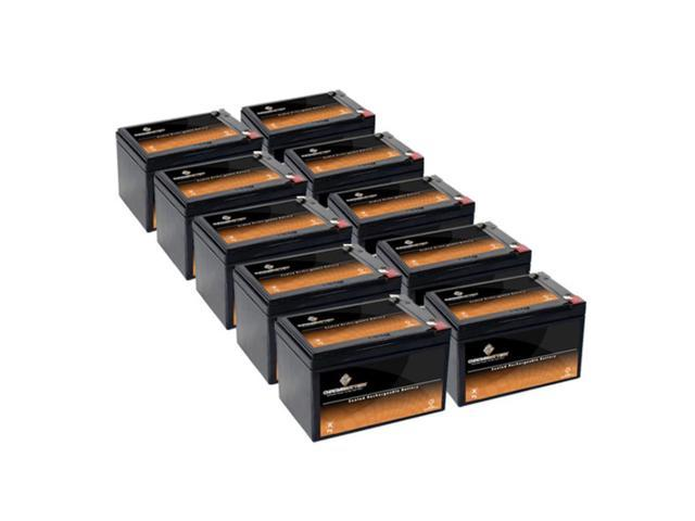 12V 12.5AH SLA Battery replaces ps12100 12ce12 lc-ra1212p - 10PK