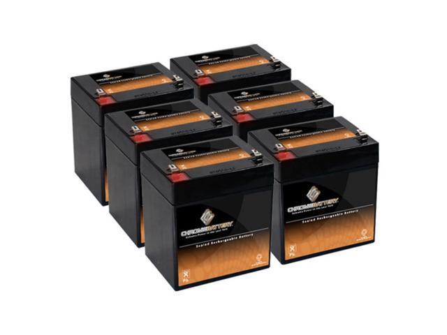 12V 4.5AH SLA Battery replaces np4-12 ub1245 gp1245 ps-1250 ps1250 - 6PK