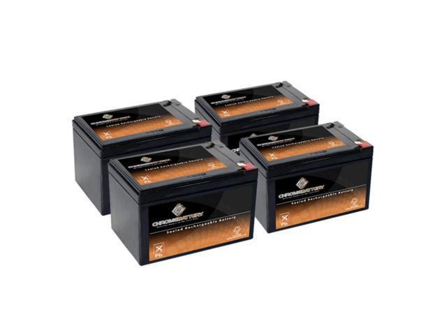 12V 14.5AH SLA Battery replaces cb12-12 np12-12 bp12-12 es12-12 ub12120 - 4PK
