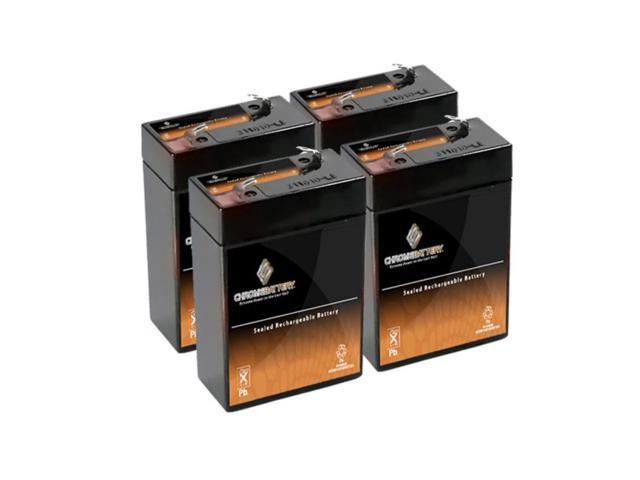 6V 4.5AH SLA Battery replaces elb06042 es4-6 ps-640 gp640 - 4PK