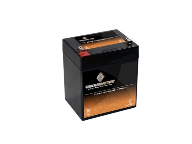 12V 5.2AH Sealed Lead Acid (SLA) Battery - T1 Terminals - for ZB-12-5.2