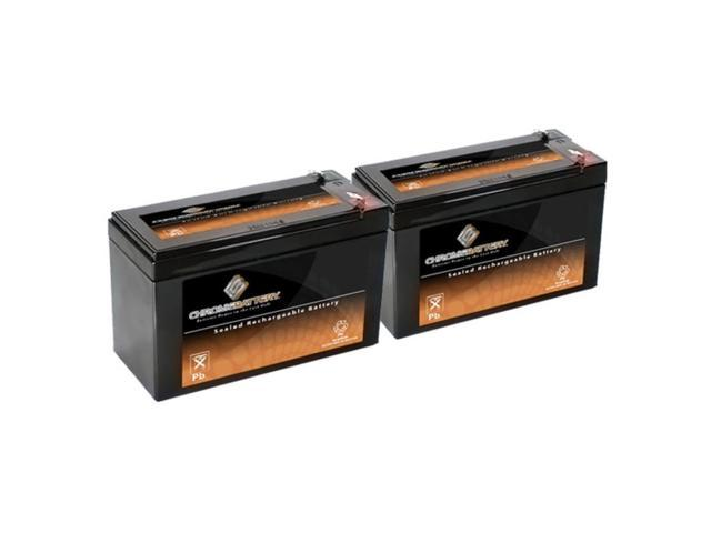 12V 9AH SLA Battery Replaces CP1290 6-DW-9 HR9-12 PS-1290F2 - 2PK