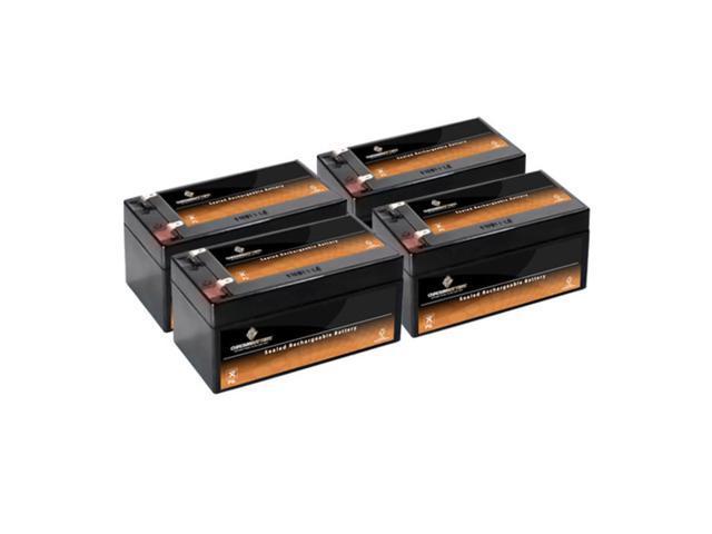 12V 3.2AH Sealed Lead Acid (SLA) Battery - T1 Terminals - for ZB-12-3.2 - 4PK