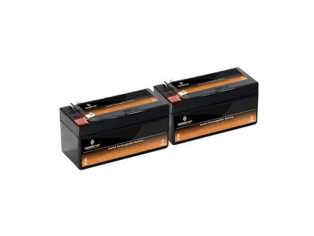 12V 1.2AH SLA Battery replaces lcr12v1.3p gh1212 wp1.5-12 - 2PK