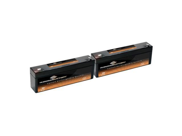 12V 2.2AH SLA Battery replaces px12026 lc-r122r2p - 2PK