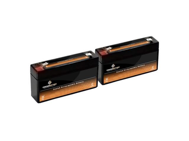 6V 1.2AH SLA Battery replaces wp1.2-6 gp613 lcr6v1.3p - 2PK
