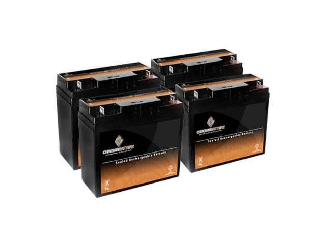 12V 18.5AH SLA Battery replaces 51913 es2500 12896 ub12180 gp12170 - 4PK