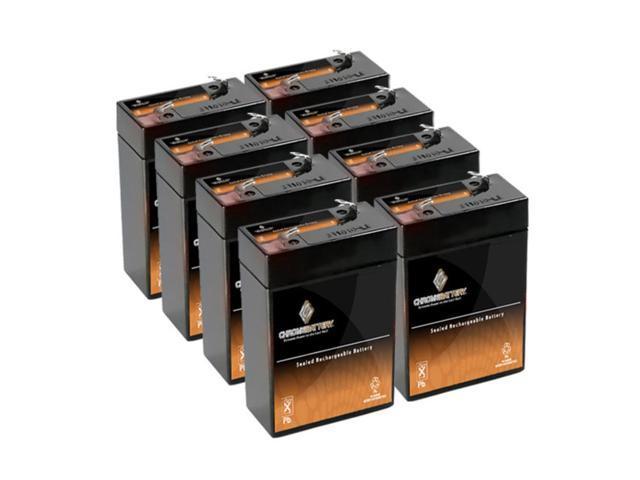 6V 4.5AH SLA Battery replaces ub645 bp4-6 np4-6 wp4-6 sb604b - 8PK