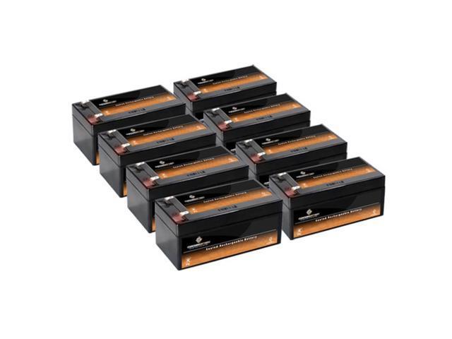 12V 3.4AH SLA Battery replaces ub1234 lc-r123r4p - 8PK