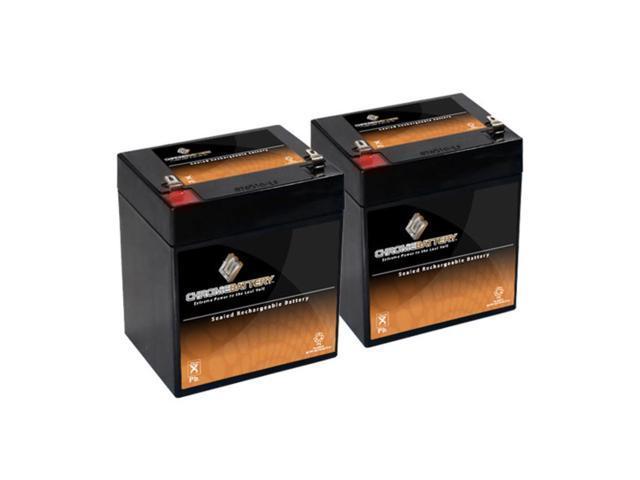 12V 5AH SLA Battery replaces pc1250 ub1250 ca1240 bp5-12 es4-12 - 2PK