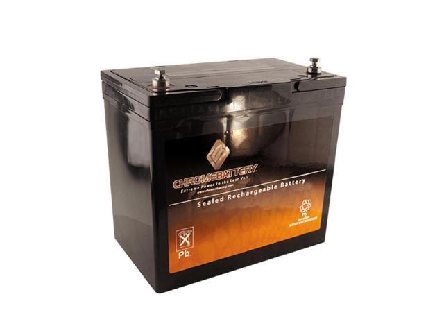 12V 55AH Sealed Lead Acid (SLA) Battery - T6 Terminals - for ZB-12-55