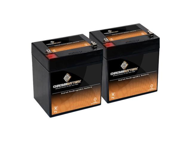 12V 4.5AH SLA Battery replaces nph5-12 hr1221wf2 wp5-12 23-289b bp4-12 - 2PK