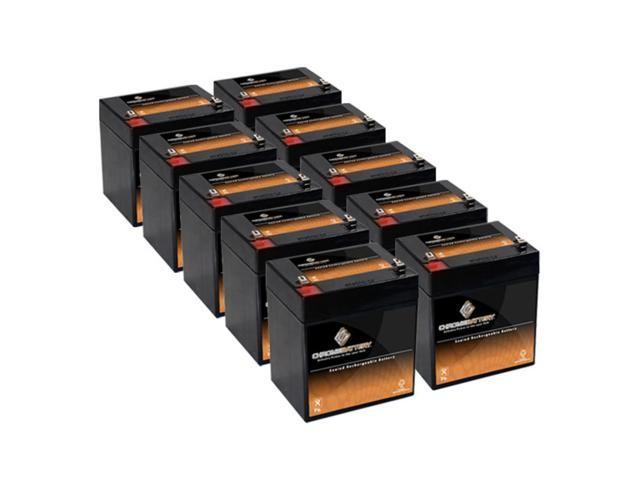 12V 5.4AH SLA Battery for iZip i-1308 - 10PK