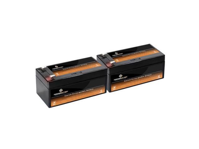 12V 3.5AH SLA Battery replaces DG12-3 GP1233A GT016T4 LC-R123R4P - 2PK