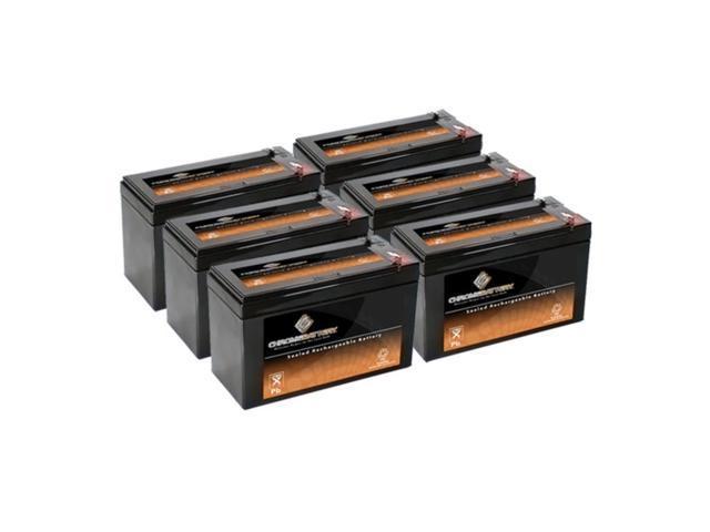 12V 8AH SLA Battery replaces WKA12-8F2 DJW12-8HD TPH12080 F2 - 6PK