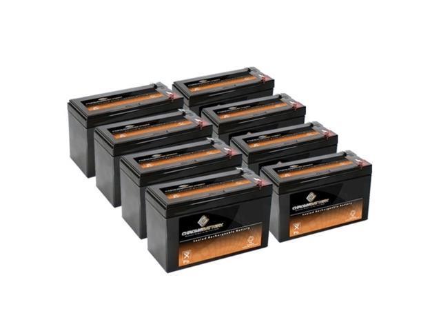 12V 7.6AH Sealed Lead Acid (SLA) Battery - T2 Terminals - for ZB-12-7.6 - 8PK