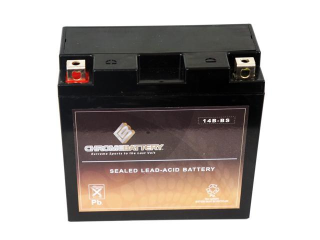 YT14B-BS Motorcycle Battery for YAMAHA XV1700P Road Star Warrior 1700CC 02-'09