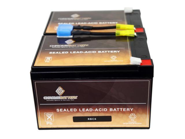 RBC6 UPS Complete Replacement Battery Kit for SUA1000