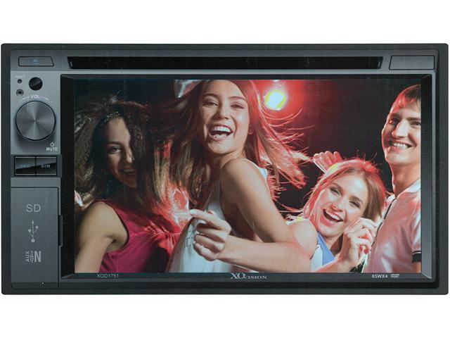 "NEW XO VISION XOD1751 6.2"" DOUBLE DIN INDASH TOUCHSCREEN DVD RECEIVER W/ USB/SD"