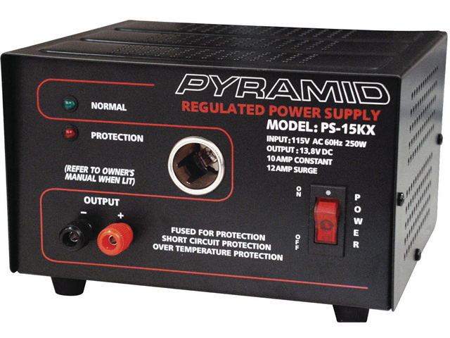 NEW PYLE PS15KX POWER SUPPLY 12 AMP WITH CIGAR PLUG