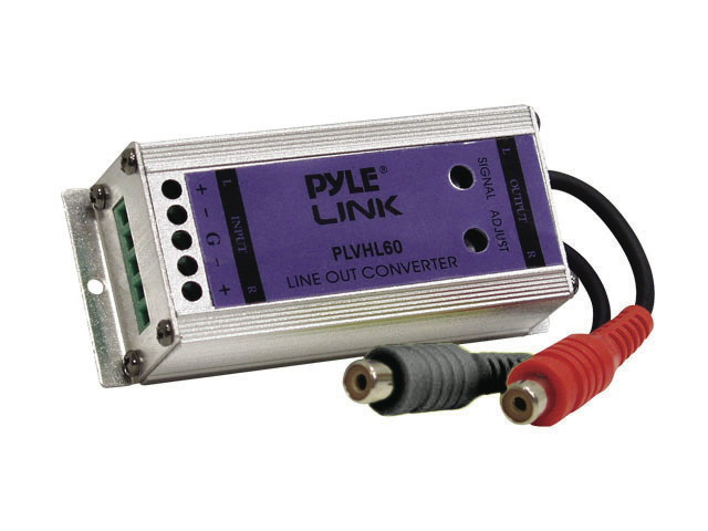 PYLE CAR AUDIO PLVHL60 NEW SPEAKER TO RCA LINE OUT CONVERTER 2 CHANNEL 50 WATTS