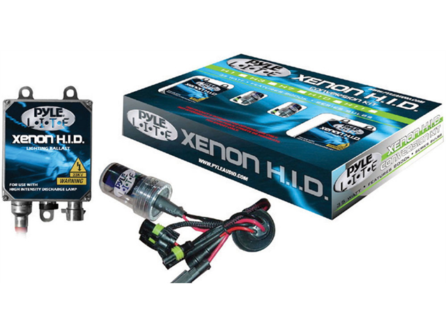 PYLE CAR AUDIO PHDH4K10K NEW 10000K DUAL BEAM H4 HID XENON DRIVING LIGHT SYSTEM