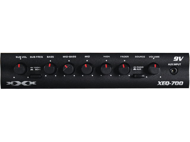 NEW XXX XEQ700 7 BACK GRAPHIC EQUALIZER W/ LED POWER METER AND SUBWOOFER OUTPUT