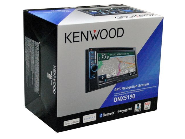 "NEW KENWOOD DNX5190 6.1"" NAVIGATION DVD RECEIVER BLUETOOTH SIRIUS XM READY"