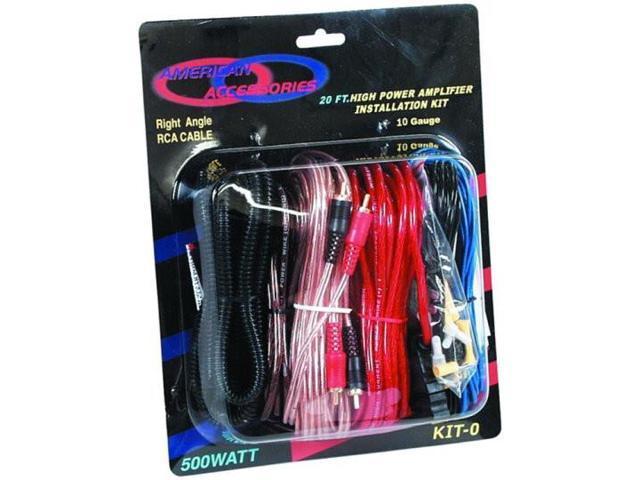 New American Hi Fi Powerkit0 10 Ga Amplifier Amp Wiring Kit 10 Gauge