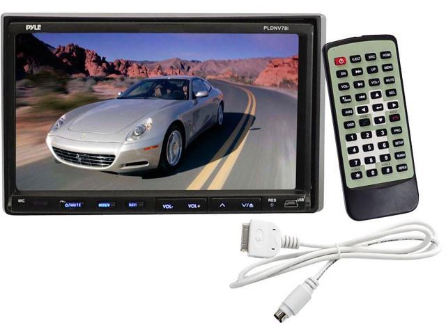 "Pyle PLDNV78I 7"" Double-DIN Touchscreen LCD Monitor w/ DVD/CD/MP3/MP4/USB/SD/AMFM/RDS/Bluetooth & GPS"