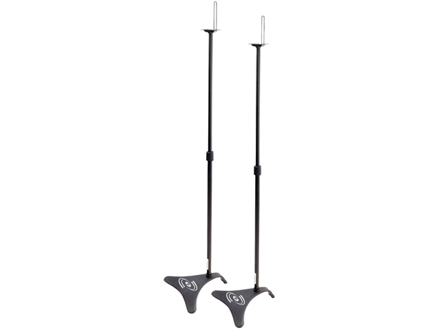 NEW PAIR PYLE PHSTD1 ADJUSTABLE HOME THEATER SPEAKER STANDS
