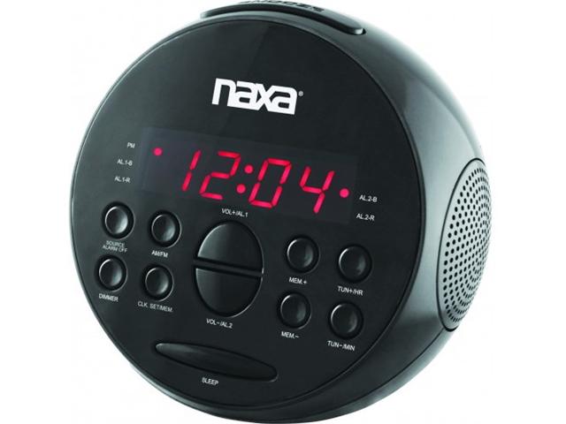 NAXA NRC172 Digital Alarm Clock with AM/FM Radio