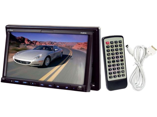 PYLE Touch Screen Multimedia Disc/VCD/CD/MP3/MP4/CD-R/SD-MMC Card Slot/AM/FM/iPod Connector Model PLDN73I