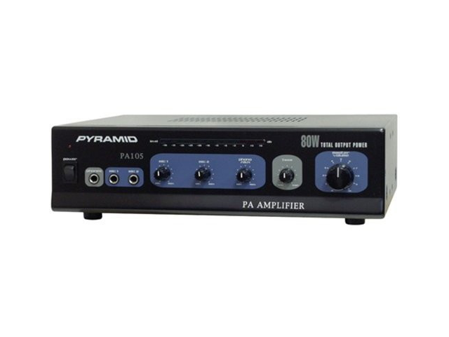 New Pyramid Pa105 80W Professional Mic Mixer/Amplifier Amp 80 Watt