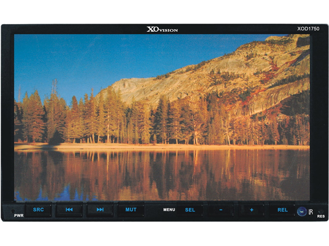 """NEW XO VISION XOD1750 7"""" DOUBLE DIN INDASH TOUCHSCREEN MOTORIZED DVD USB AND SD"""