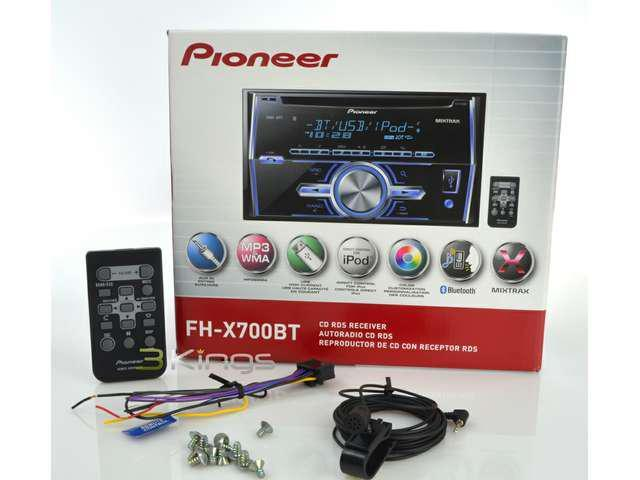 NEW PIONEER FHX700BT DOUBLE DIN CD MP3 RECEIVER BLUETOOTH USB