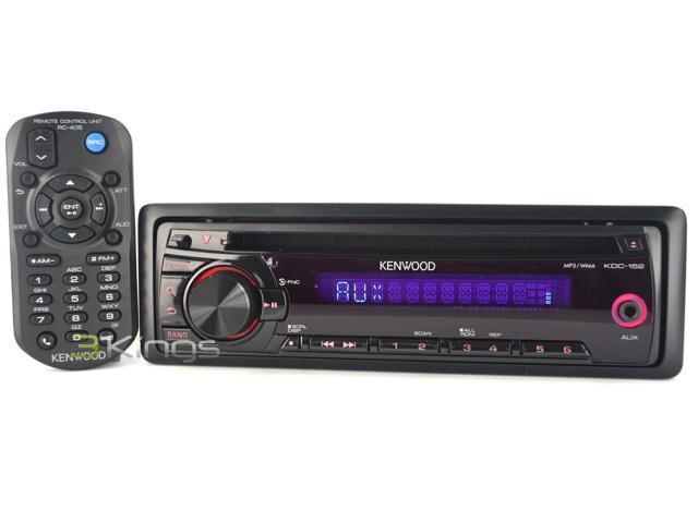 New Kenwood Kdc-152 In-Dash Car Stereo Cd Player Am/Fm Car Radio Receiver Aux