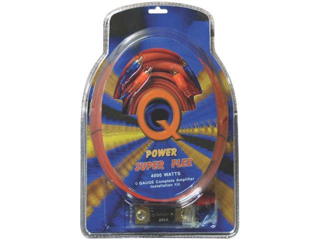 New Q-Power 0Gampkitsflex 0 Gauge Amp Kit Suber Flex 0 Gampkitsflex